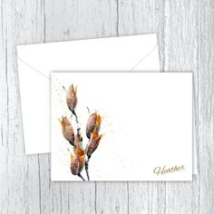 Seed Pods - Personalized Printed Note Cards Small Letters, Personalized Note Cards, Seed Pods, White Envelopes, Card Stock, Birthday Gifts, Seeds, Great Gifts, Notes