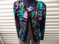 The Obnoxious Sequin Jacket. Vintage, 1980s. $45.00, via Etsy.