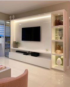 54 likes, 2 comments – Eu Decoração Living Room Wall Units, Living Room Tv Unit Designs, Home Living Room, Living Room Decor, Modern Tv Room, Modern Tv Units, Modern Tv Unit Designs, Bar Designs, Tv Unit Interior Design