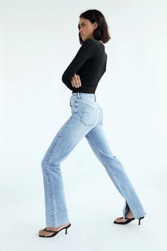 Jeans Zara, Zara United States, Flare Jeans, Dress Codes, Push Up, Bell Bottom Jeans, Slim, Poses, Dresses
