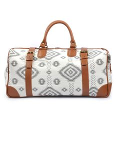 Fair Trade Handmade White Travel Bag