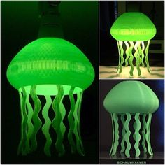 Green Version #jellyfish Pendant&Table lamp #3dprinted#3dprint#3dprinting#lamp#pendantlamp#tablelamp#light#3ddesign#design#designer#lightdesign#lampdesign#designing#diy#make#maker#ultimaker#3dhubs#nantes#3d프린팅#3dprints#fusion360#pla#colorfabb#cults3d Diy Design, 3d Printing, Table Lamp, Pendant, Green, Instagram Posts, Home Decor, Impression 3d, Homemade Home Decor