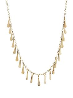 Melissa Joy Manning Jewelry -   Seed Chain Necklace - Yellow Gold    Handcrafted in 14-karat yellow gold.  Necklace is adjustable between 16-in. and 18-in. long.  Finished with a double hook closure.