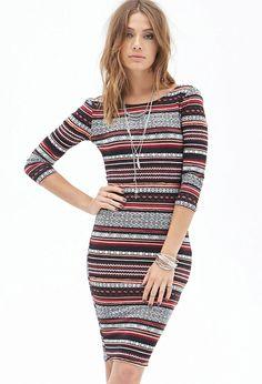 Tribal Print Midi Dress - Dresses - 2000084014 - Forever 21 EU