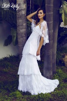 Charo Ruiz ----Sensual wedding dresses handcrafted in Ibiza from the finest materials for you to feel glamorous with a boho vibe Arabian Nights Wedding, Wedding Night, Wedding Stuff, Ibiza Wedding, Hippy Chic, Boho Chic, Lace Dress, White Dress, Lace Gowns