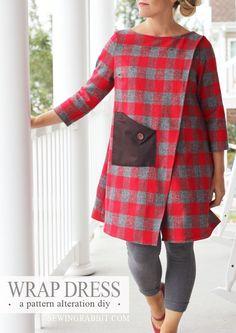 Wrap Dress DIY - easy & cute! via @mesewcrazy