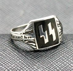 GERMAN SS RING FOR SALE SILVER WW2