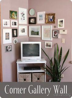 Creative idea on how to decorate a corner.
