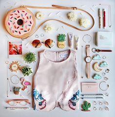 sweet pastels // @tarastar168 flatlay