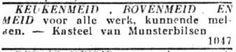 28 januari 1930. Advertentie