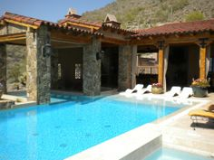 Spanish style home with pool