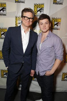 Kingsman: The Secret Service /// Colin Firth and Taron Egerton /// Comic-Con International 2014 at San Diego Convention Center on July 25, 2014