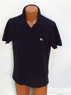 Burberry Brit Black Cotton Polo Shirt - Large * #BurberryBrit #PoloRugby