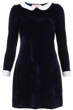 Velvet Peter Pan Dress by Oh My Love £39.00