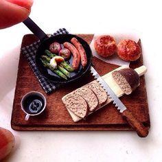 #miniature#clay#handmade#miniaturefood#bread#foodpics#foodphotgraphy#onthetable#looksdelicious #yummy#kawaii#instafood
