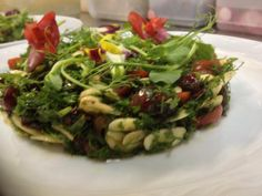 ... and Pansies (from Haj Kahil Restaurant in Jaffa), for Tu B'Shevat More