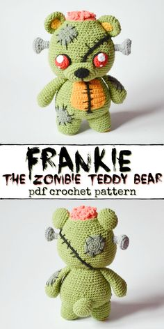 Amigurumi 11170 How adorable is this creepy and cute zombie teddy bear crochet pattern? I love this kind of amigurumi, perfect handmade gift for older kids or teenagers! Crochet Pour Halloween, Halloween Crochet Patterns, Crochet Animal Patterns, Crochet Patterns Amigurumi, Stuffed Animal Patterns, Crochet Dolls, Halloween Yarn, Halloween Sewing Projects, Crocheting Patterns