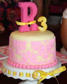 Pink and Yellow Birthday - my daughters 3rd birthday cake :0)  @Amy - wanted to share this with you when I saw all your pink and yellow!!  My pictures are no where near professional, but you get the idea!!