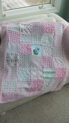 Hey, I found this really awesome Etsy listing at https://www.etsy.com/listing/233105217/pink-chenille-quilt-from-vintage