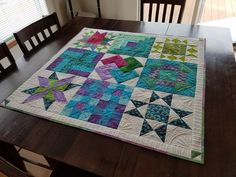 made from Ch. 1-3 blocks from my co-authored book You Can Quilt!