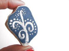 handpainted blue and white sea pottery italian beach pottery sea hostess gift…