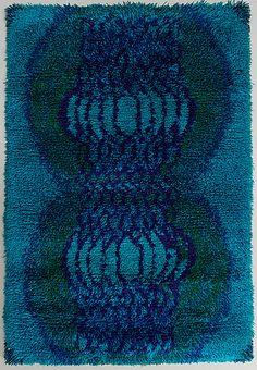 Terttu Tomero, Katiska 1966 Textile Fabrics, Textile Art, Textile Patterns, Rya Rug, Kinds Of Fabric, Indoor Outdoor Living, Rug Hooking, Woven Rug, Rugs