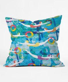 Look at this #zulilyfind! Swimming Gala Throw Pillow #zulilyfinds