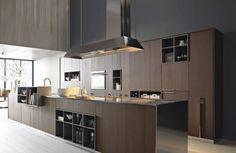 33 modern style cozy wooden kitchen design ideas - Home Decor Modern Kitchen Cabinets, Kitchen Dinning, Modern Kitchen Design, Kitchen Interior, Modern Kitchens, Minimal Kitchen, Kitchen Designs, Italian Kitchens, Kitchen Ideas