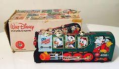 Gioco Latta Vintage TIN TOY LOCOMOTIVA REEL  WALT DISNEY TOPOLINO Work + Box | eBay