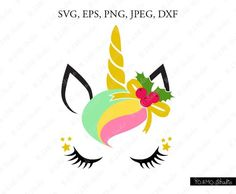 Free unicornio SVG Files for Cricut Unicorn Head, Cute Unicorn, Unicorn Party, Christmas Unicorn, Christmas Svg, Christmas Shirts, Pumpking Carving, Easy Christmas Drawings, Programing Software