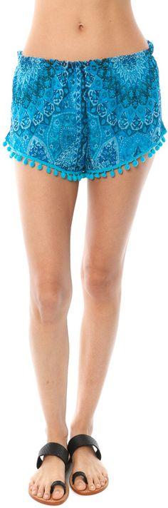 $19 SALE Chaser Printed Pom Pom Shorts