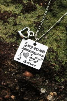 Relationship Necklace - with all the info on it... only $14!!