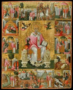 St Spyridon and scenes from his life. half of the c. Benaki Museum, Art Roman, Google Art Project, Religious Paintings, Muse Art, Byzantine Art, All Icon, Greek Art, Orthodox Icons