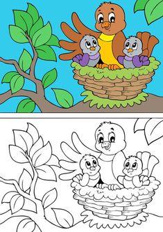 Desenhos de pássaros para colorir - Pinte a mamãe e seus lindos filhotinhos - Passarinhos para pintar #passarinhos #passaro  #desenhos #colorir #educação #infantil #alfabetização #criança #pintar #colorir #atividades #ideias #criativa #desenhosparacolorir #desenhosparapintar #imprimir #desenhosparaimprimi #imprimirepintar #imprimirecolorir #modelos #moldes #artes #verefazer #artes