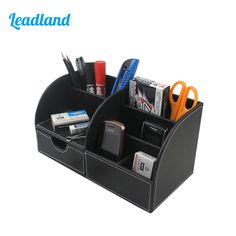 1pc Diy Storage Tube Stick On Desktop Makeup Storage Pen Holder Plastic Desk Organizer Stationery To Win Warm Praise From Customers Office & School Supplies Pen Holders