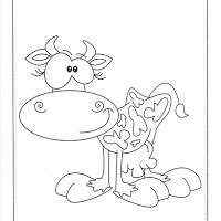 Cow Coloring Pages, Coloring Books, Cow Pictures, Colorful Pictures, Drawing For Kids, Line Drawing, Front Page Design, Cartoon Cow, Kids Sleeping Bags