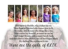 Dance moms poem ♥♥♥ I could not agree wit this anymore I just love this!!