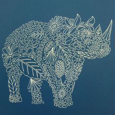 love all of the intricate detailing in this piece by illustrator & designer Millie Marotta