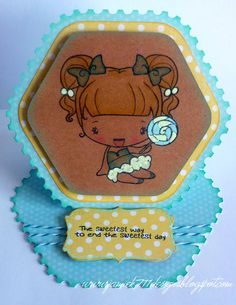 Easel Card made with Jaded Blossom stamps and The Greeting Farm