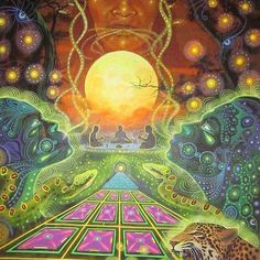 A new generation of psychedelic artists have emerged in the past ten years who have taken visionary art to a new peak… by psychedelicu Psychedelic Artists, Psychedelic Experience, Alex Gray Art, Namaste, Psychadelic Art, Spiritual Images, Hippie Art, Environment Concept Art, Visionary Art