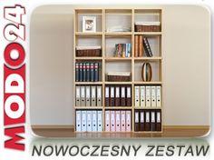 Regał drewniany na książki RSKL-Z5-5-5 PÓŁKI  HIT