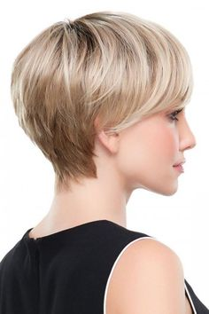 Wear this long pixie wig with ease! Evan by Jon Renau Wigs features a lace front wig cap that allows you to wear the hair tucked behind your ears. Crown Hairstyles, Short Hairstyles For Women, Hairstyles Haircuts, Pixie Bob Hairstyles, Bob Haircuts, Short Wigs, Curly Wigs, Black Curly Wig, Jon Renau