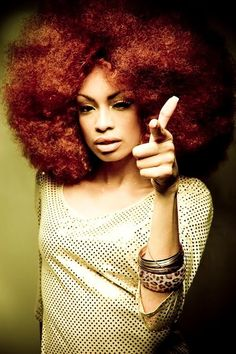 Red Afro natural hair This is super duper fly ! Big Hair, Your Hair, Curly Hair Styles, Natural Hair Styles, Natural Beauty, Pelo Afro, Pelo Natural, Natural Hair Inspiration, African American Hairstyles