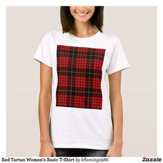 Red Tartan Women's Basic T-Shirt