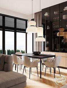 Project Warm | Minsk, Belarus on Behance Modern Luxury Bathroom, Modern Bathroom Design, Modern House Design, Kitchen Design Open, Laundry Room Design, Cool House Designs, Living Room Inspiration, Luxury Living, Living Room Designs