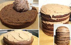 Minion-Kuchen Schritt 2: Ganache zubereiten und Böden zusammensetzen - Minion-Kuchen Schritt für Schritt nachbacken - Damit der Minion-Kuchen schön saftig wird, wird er mit einer Schoko-Ganache gefüllt. Dafür braucht ihr folgende Zutaten: - 400 ml süße Sahne und wahlweise: - 550 g Vollmilchschokolade...