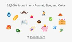 Single icon pack with 31,000 free icons. Each icon is in 5 flat styles. Download as PNG, SVG, or as a font.