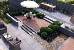 outdoor living room Modern Garden Design, Contemporary Garden, Pergola, Modern Landscaping, Backyard Landscaping, House Landscape, Landscape Design, Small Gardens, Outdoor Gardens