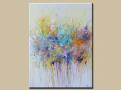 ORIGINAL abstract flower painting-colorful flower painting-painting ,painting on canvas-blossom
