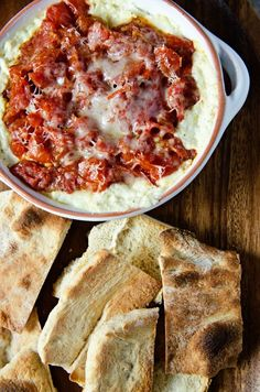 Warm Goat Cheese Dip with Artichokes and Roasted Tomatoes